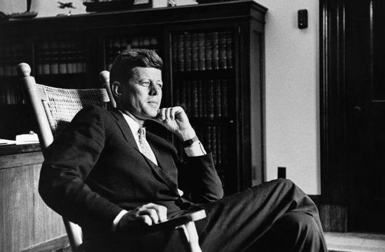 O ex-presidente dos EUA John F. Kennedy.