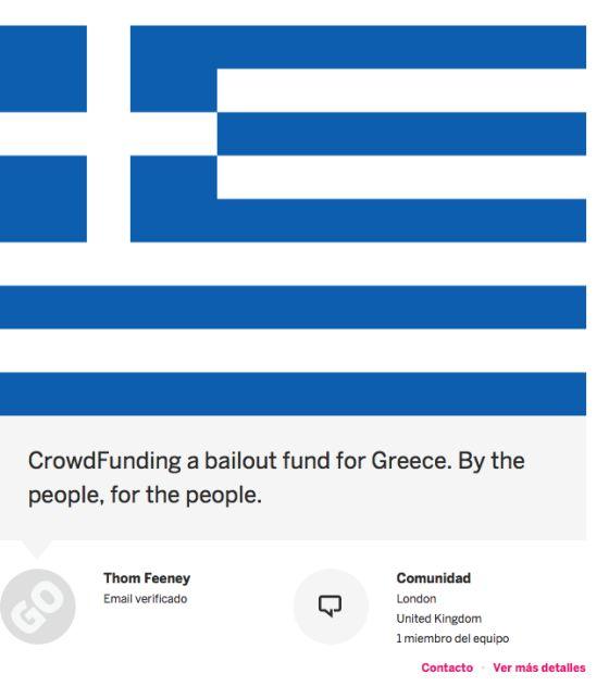 A campanha de arrecadação na plataforma Indiegogo.