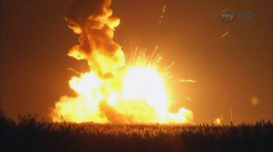 Imagem da explosão capturada pela NASA.