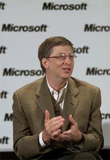Bill Gates, durante una comparecencia en junio de 2001.