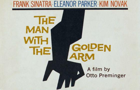 Cartaz de 'O Homem do Braço de Ouro', de Saul Bass.