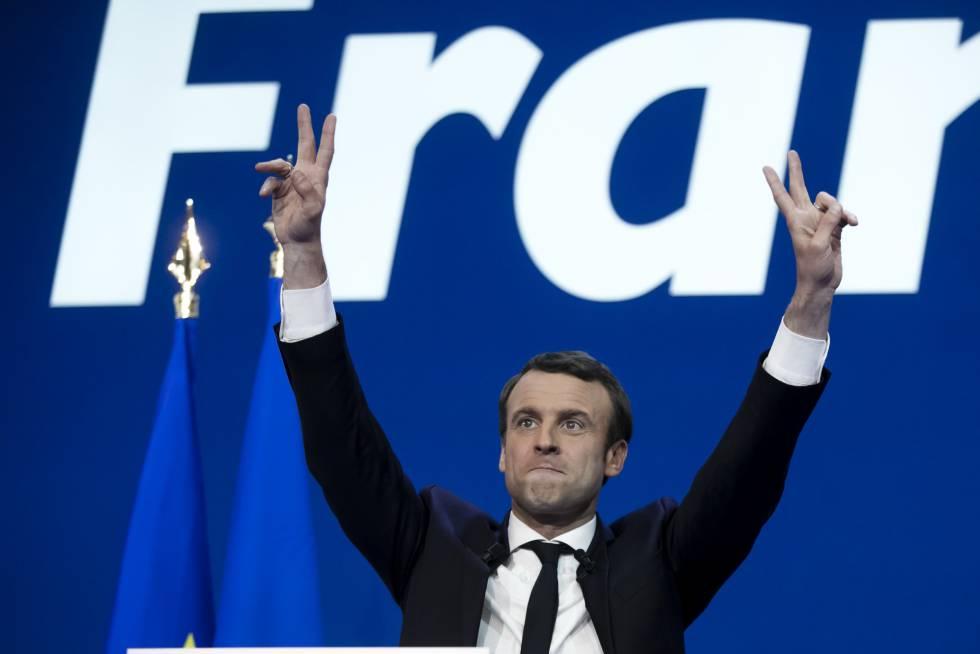 Macron se dirige aos seus seguidores após conhecer os resultados.