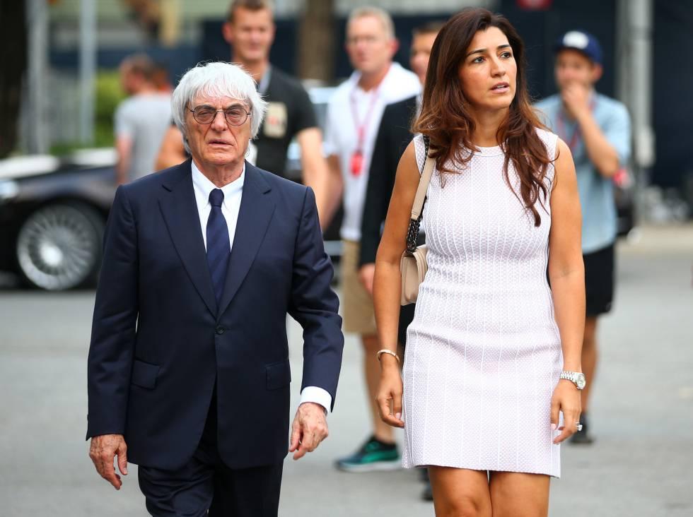 Ecclestone e sua esposa, Fabiana Flosi Ecclestone.