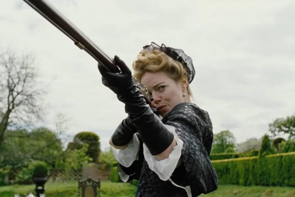 Emma Stone, em 'A favorita'.