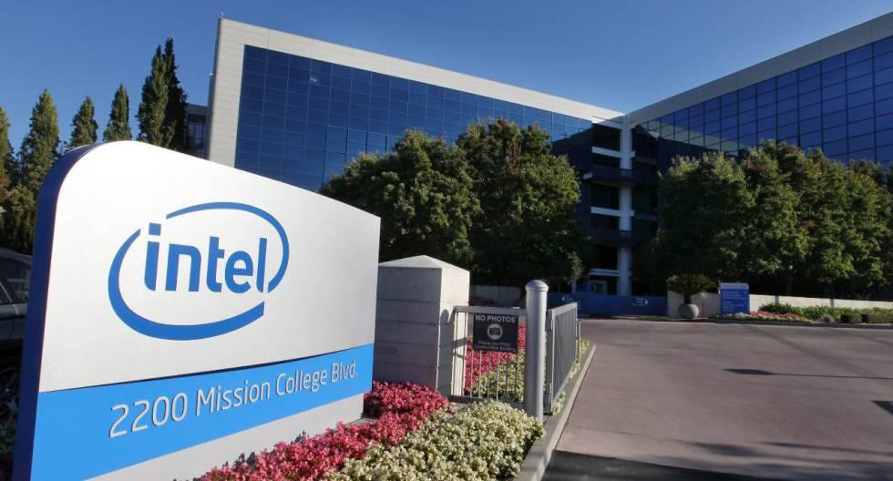 Vista da sede da Intel em Santa Clara, Califórnia