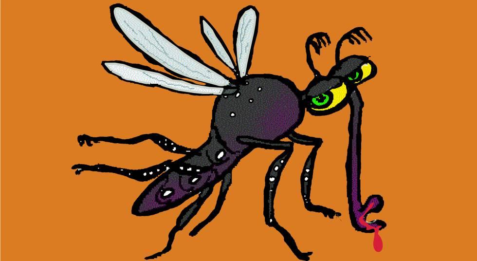 Ilustração de um 'aedes aegypti', o mosquito que transmite dengue, zika, febre amarela e chikungunya