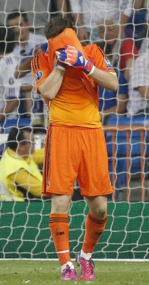 Casillas, após a derrota para a Juventus, na Champions.