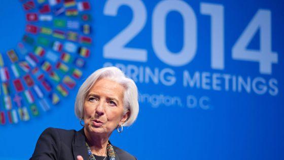 Christine Lagarde na Reunião de Primavera do FMI.