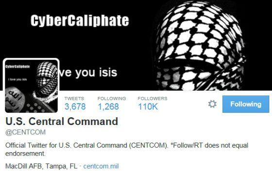 Perfil do Comando Central dos EUA após ataque de hackers ligados ao EI.