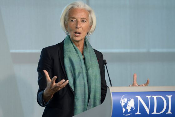 A diretora do FMI, Christine Lagarde.