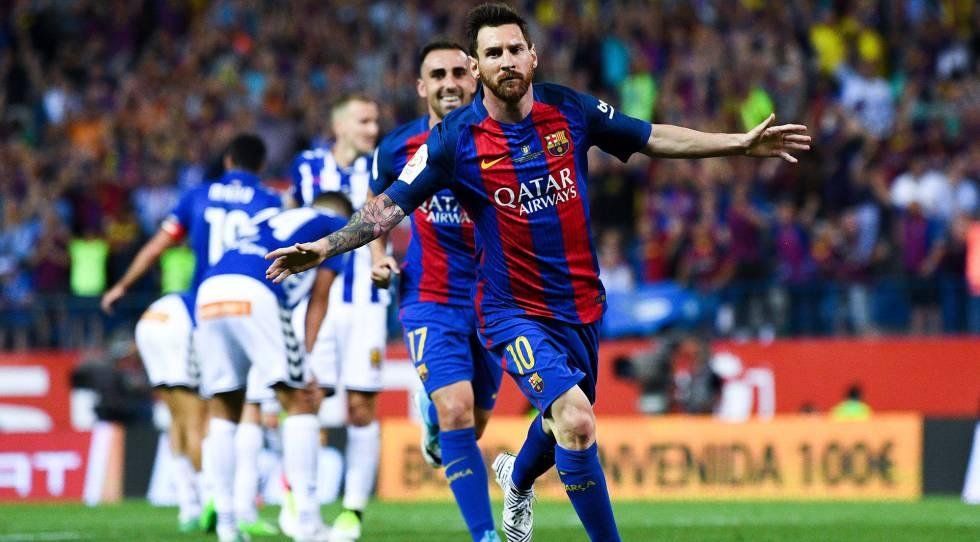 Messi marcou o primeiro e participou dos outros dois gols do Barça.