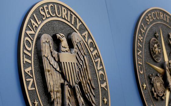 Logotipo da NSA, em sua sede nos arredores de Washington DC.