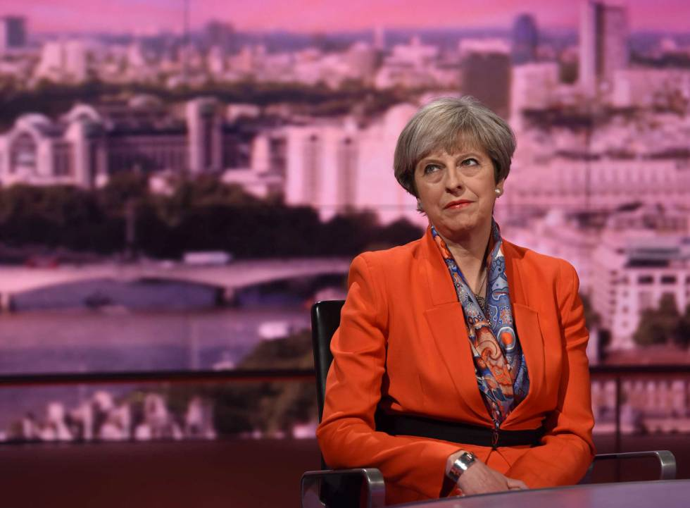 Theresa May, na BBC.