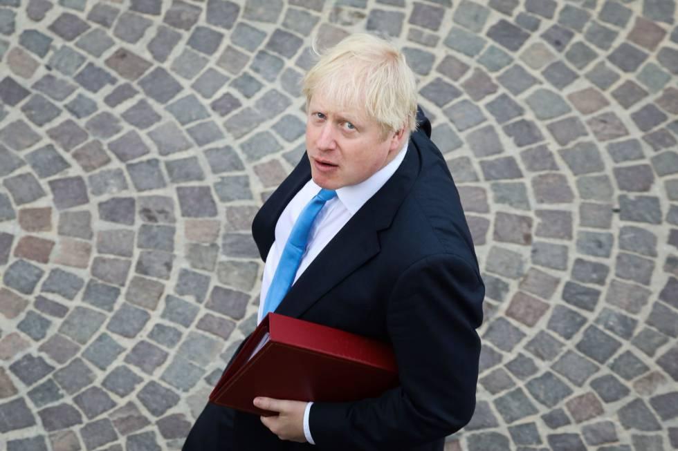 O primeiro-ministro britânico, Boris Johnson, em Biarritz na segunda-feira passada, dia 26 de agosto