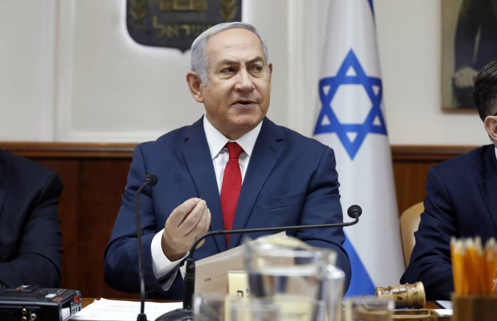 O primeiro-ministro de Israel, Benjamim Netanyahu, no domingo em Jerusalém.