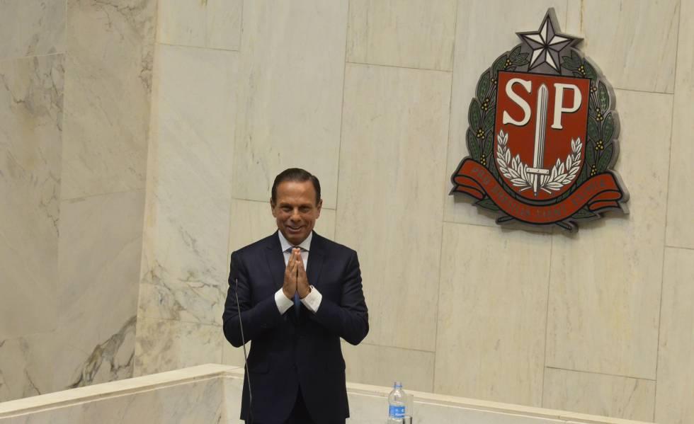 João Dória toma posse como governador na Assembleia Legislativa do Estado de São Paulo, nesta terça-feira.