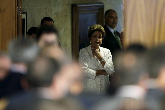 Dilma na prévia do anúncio dos novos ministros