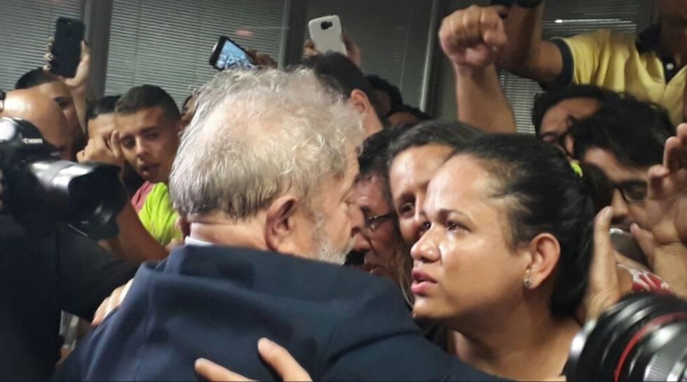 Lula no Sindicato dos Metalúrgicos.