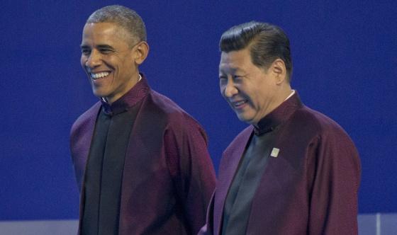 Barack Obama e Xi Jinping na cúpula Ásia-Pacífico, na segunda-feira.