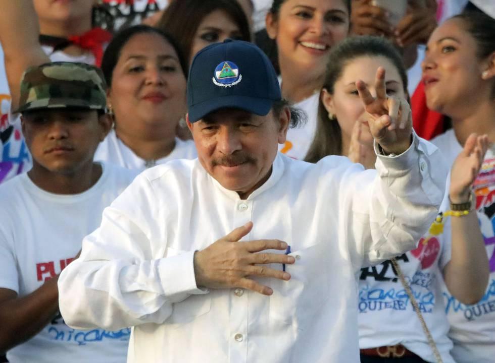 O presidente da Nicarágua, Daniel Ortega, durante o 39 aniversário da revolução sandinista.