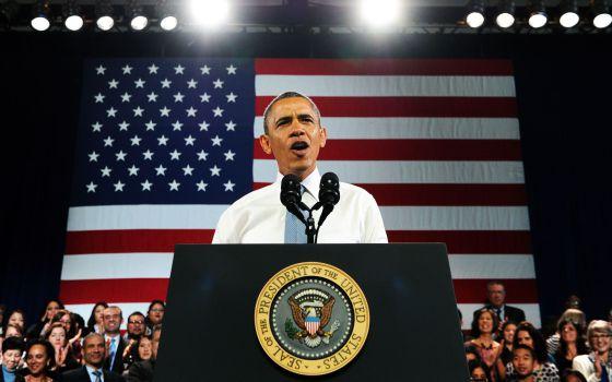 O presidente Obama durante discurso em San Francisco.