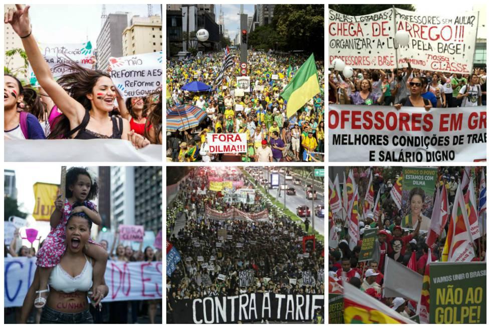 Imagens mostram a diversidade de manifestações em SP neste ano.