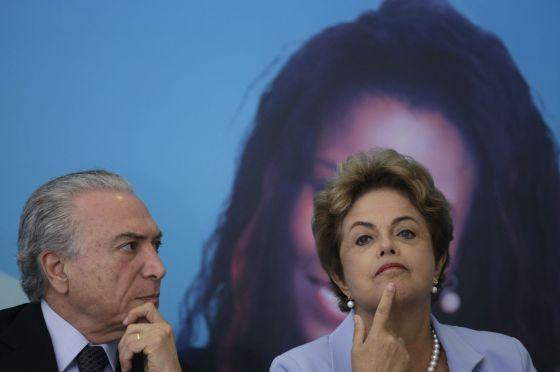 Temer e Rousseff em evento em Brasília.