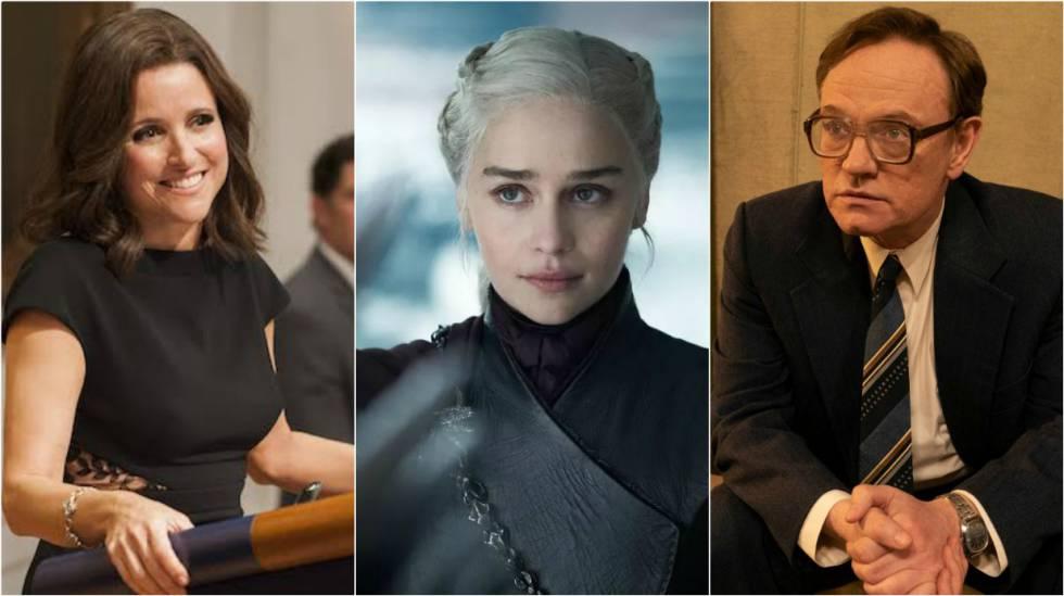 Julia Louis-Dreyfus ('Veep'), Emilia Clarke ('Jogo de tronos') e Jared Harris ('Chernobyl').