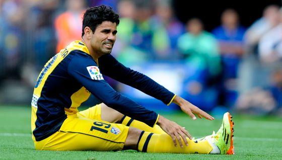 Diego Costa na partida contra o Barcelona.