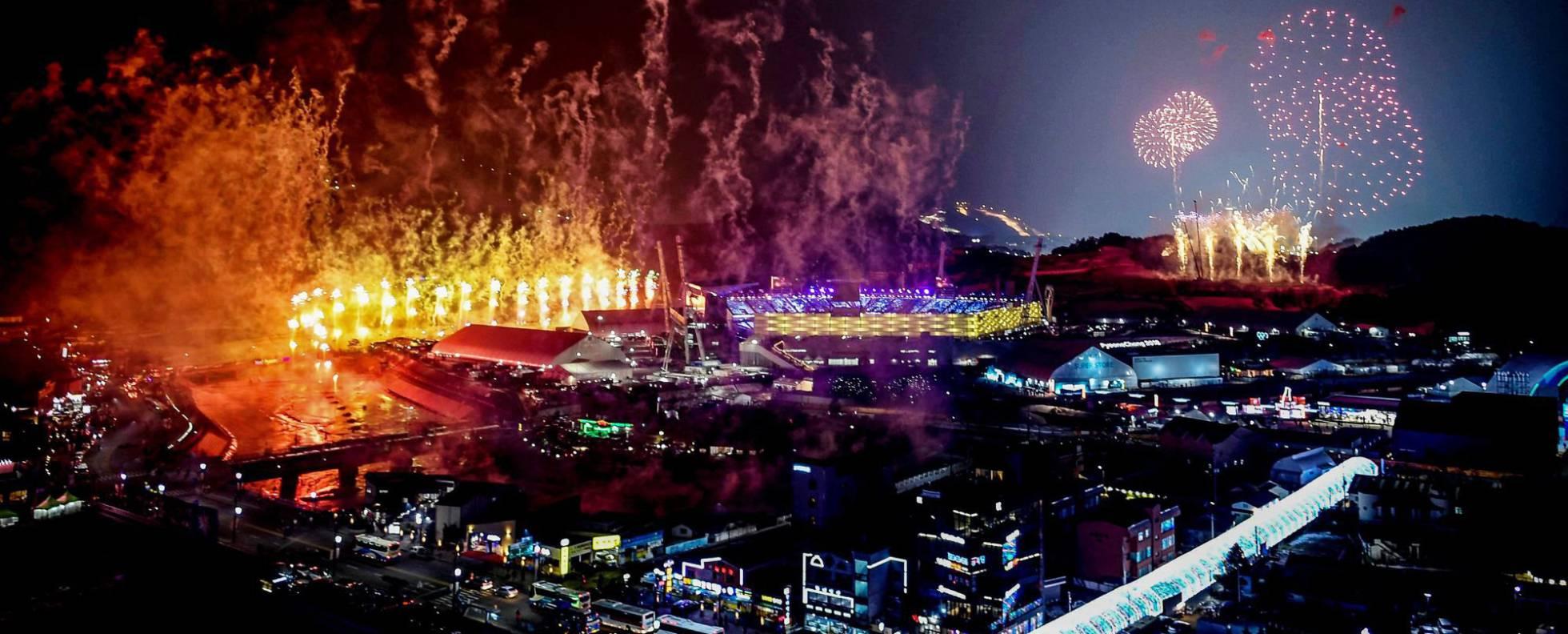 Cerimônia de abertura dos Jogos Olímpicos de Inverno 2018.