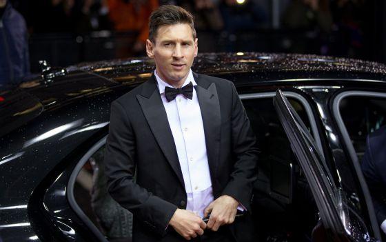 Leo Messi a sua chegada à gala da Bola de Ouro.