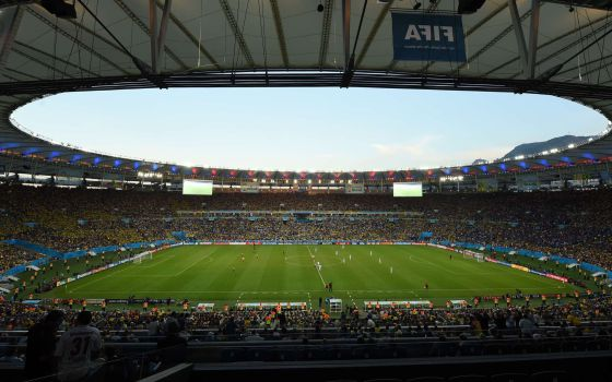 Vista geral do estádio do Maracanã.