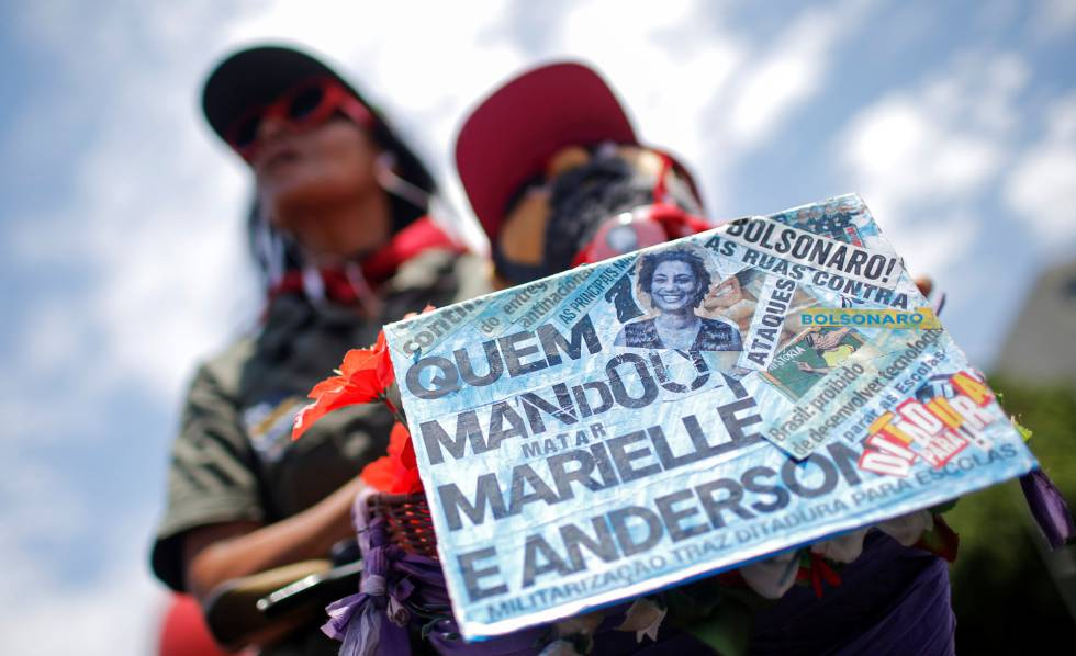 Manifestante em Brasília nesta quarta-feira.