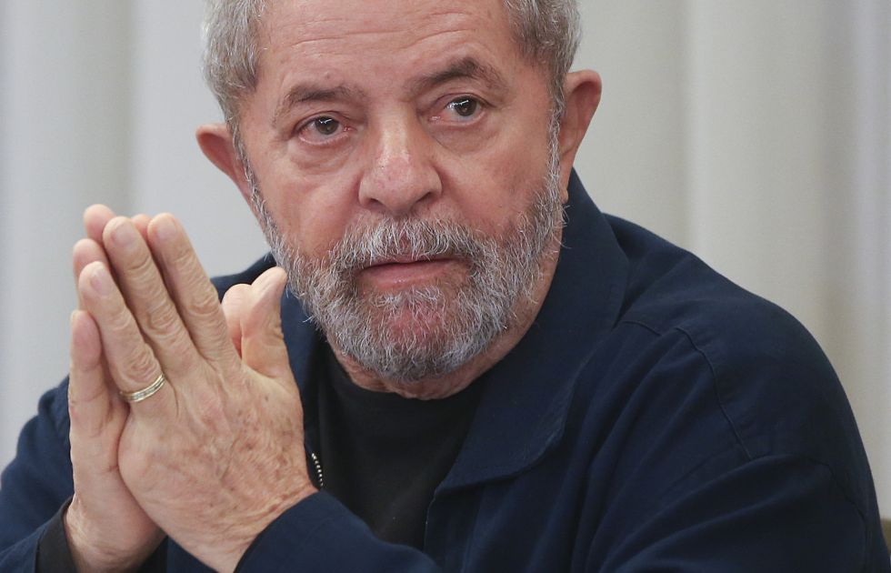 Lula em encontro do PT, em março de 2015.