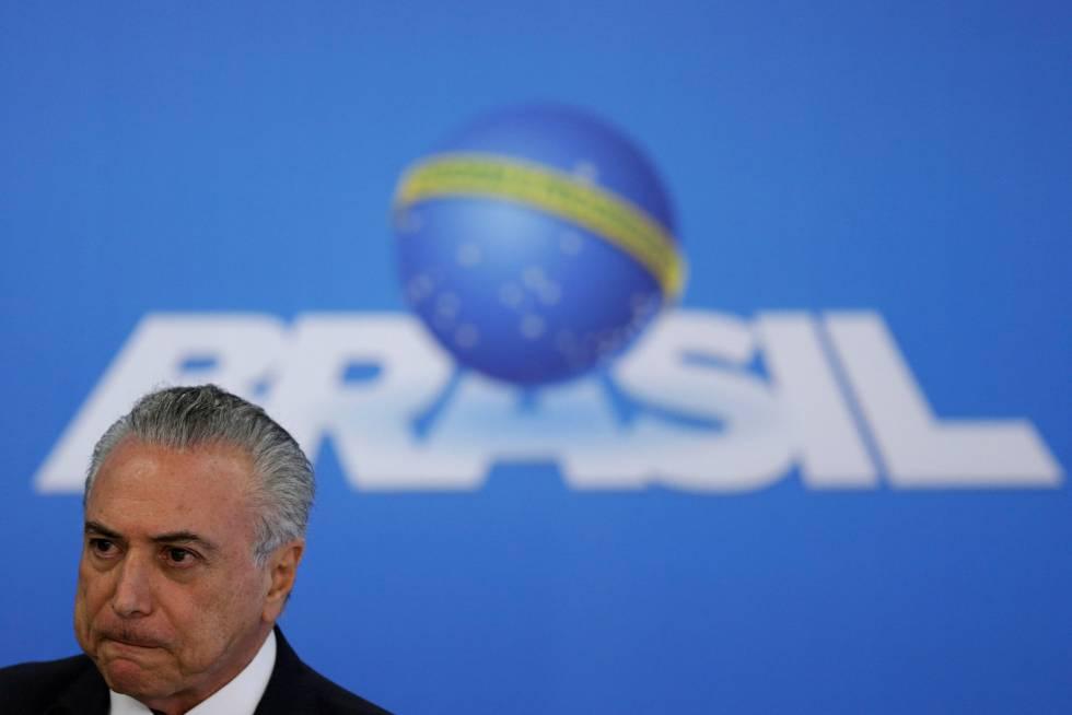 Temer em pronunciamento nesta segunda-feira, em Brasília.