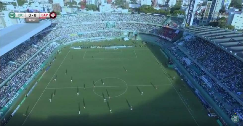 A transmissão do Atletiba.