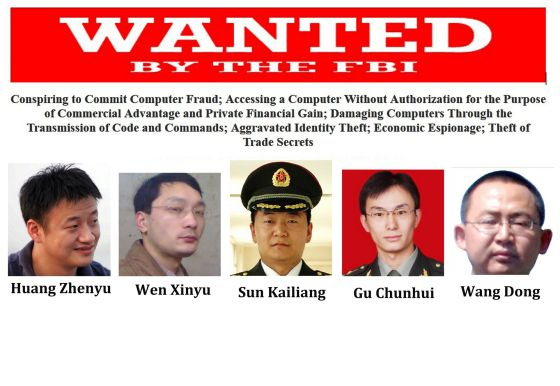 Os cinco militares acusados pelos EUA.