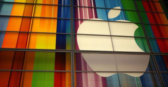 Logotipo da Apple em São Francisco, EUA.