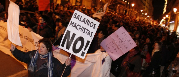 Manifestação do Dia Internacional da Mulher em Madri, em 2010.