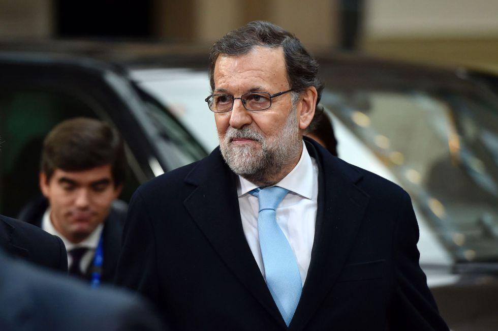 Rajoy chega à cúpula dos líderes europeus com a Turquia, em Bruxelas, no dia 7 de março de 2016.