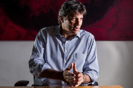 O prefeito Fernando Haddad, nesta quarta-feira.