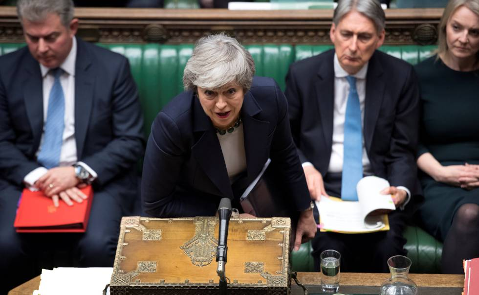 Theresa May no Parlamento esta quarta-feira.