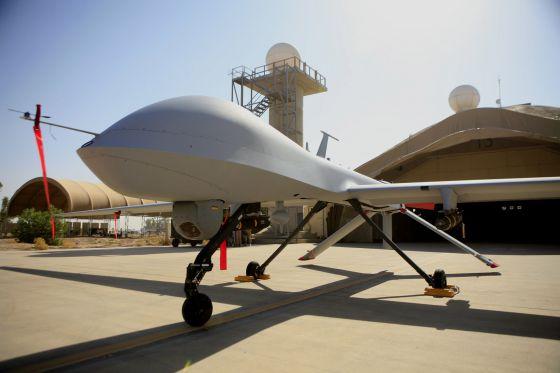 Um drone MQ-4 Predator dos EUA.