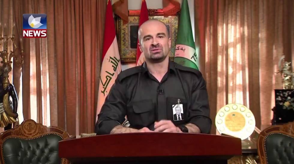 Bafel Talabani em imagem de vídeo.