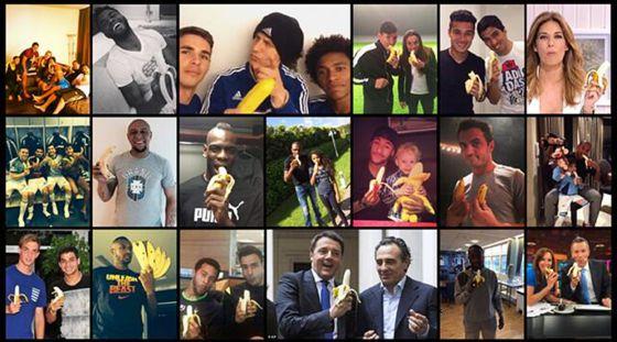Fotos de protesto pelo ato de racismo contra Daniel Alves.