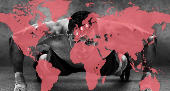 A plataforma Gymforless.com tem trabalhadores remotos em quatro países.