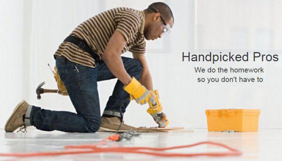 Tela inicial do site Amazon Home Services.