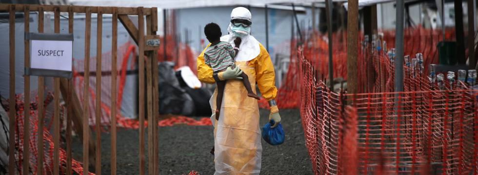 Hospital dos Médicos sem Fronteiras em Paynesville (Libéria) durante a última epidemia de ebola.