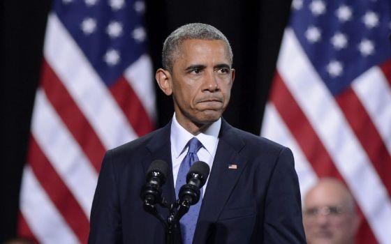 O presidente Obama durante um discurso nesta quinta.