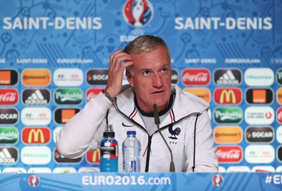 Didier Deschamps, durante a conferência de imprensa.
